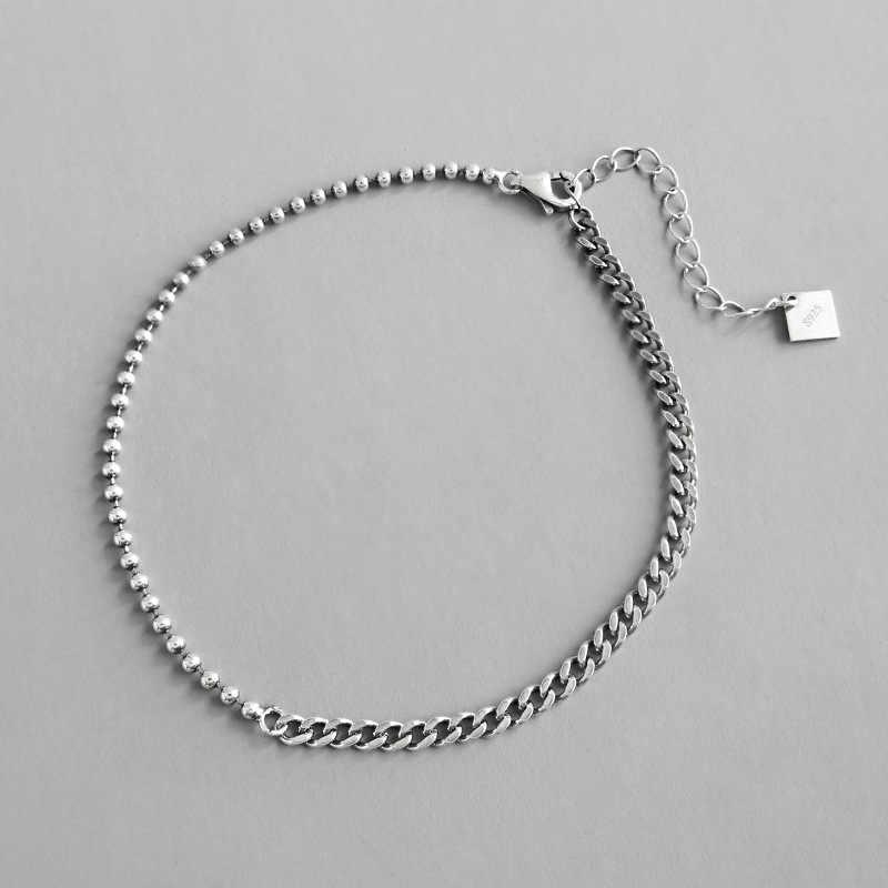 100% Серебро 925 пробы женские браслеты для щиколотки 2019 колье из круглых бусин старинные ножные браслеты украшение на ногу браслет Cheville Femme подарок