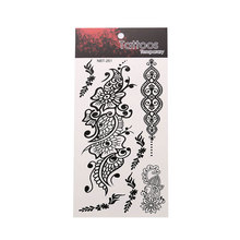 Exquisite Flower Pattern Tattoo Sticker Unisex Body Art Sticker Flower Art Graphic Waterproof Temporary Tattoo Sticker цена