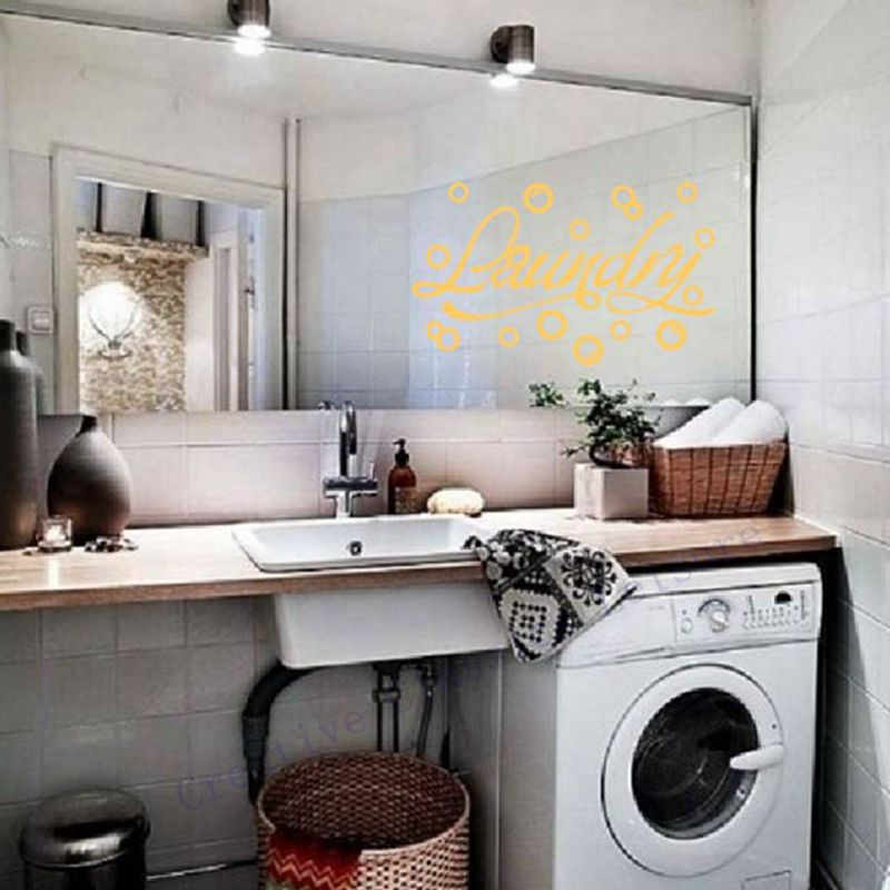Free Shipping Laundry Room Wall Stickers Vinyl Bubbles Wall Decals Laundry  Room Wall Art Decoration In Wall Stickers From Home U0026 Garden On  Aliexpress.com ...