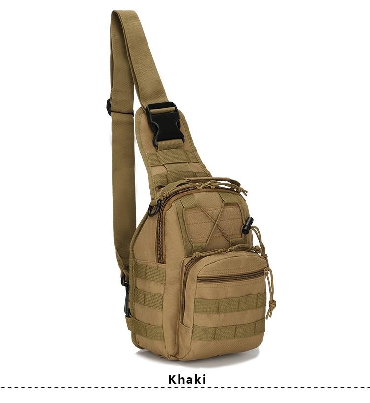 Khaki Sports Military Bag Climbing Backpack Shoulder Tactical Hiking Camping Hunting Daypack Outdoor Emergency Kit