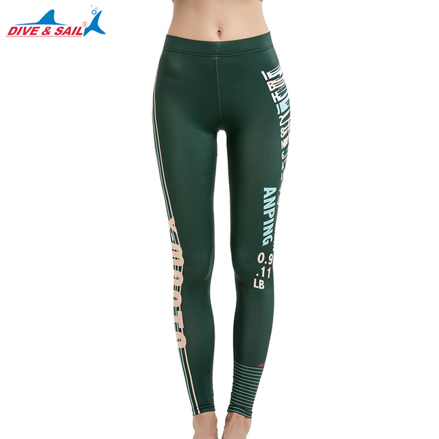 22f0bcd6268ad Women's Surfing Leggings Swimming Tights Active Fitness Leggings Running Tights  Yoga Pants Swim Bottom UV Sun