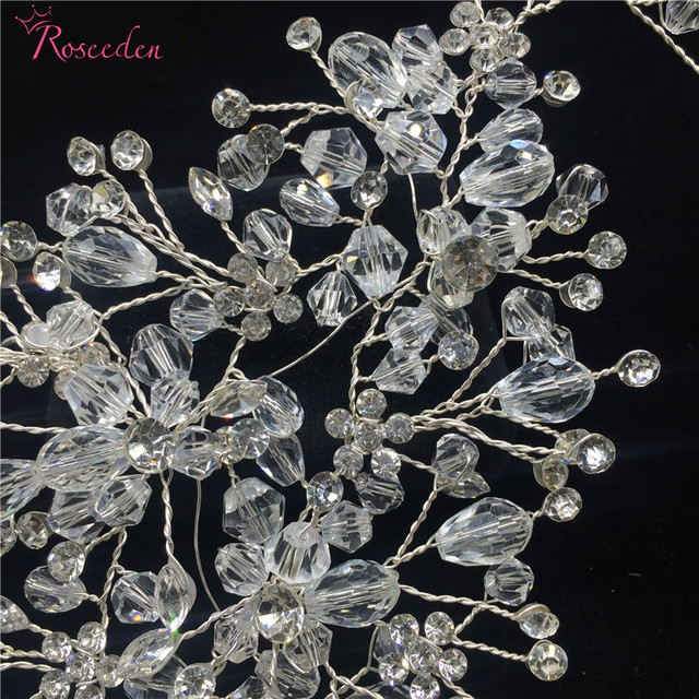 100% handmade crystal beads bridal wedding  hair ornaments women Gorgeous  rhinestone party wedding accessories new design RE615