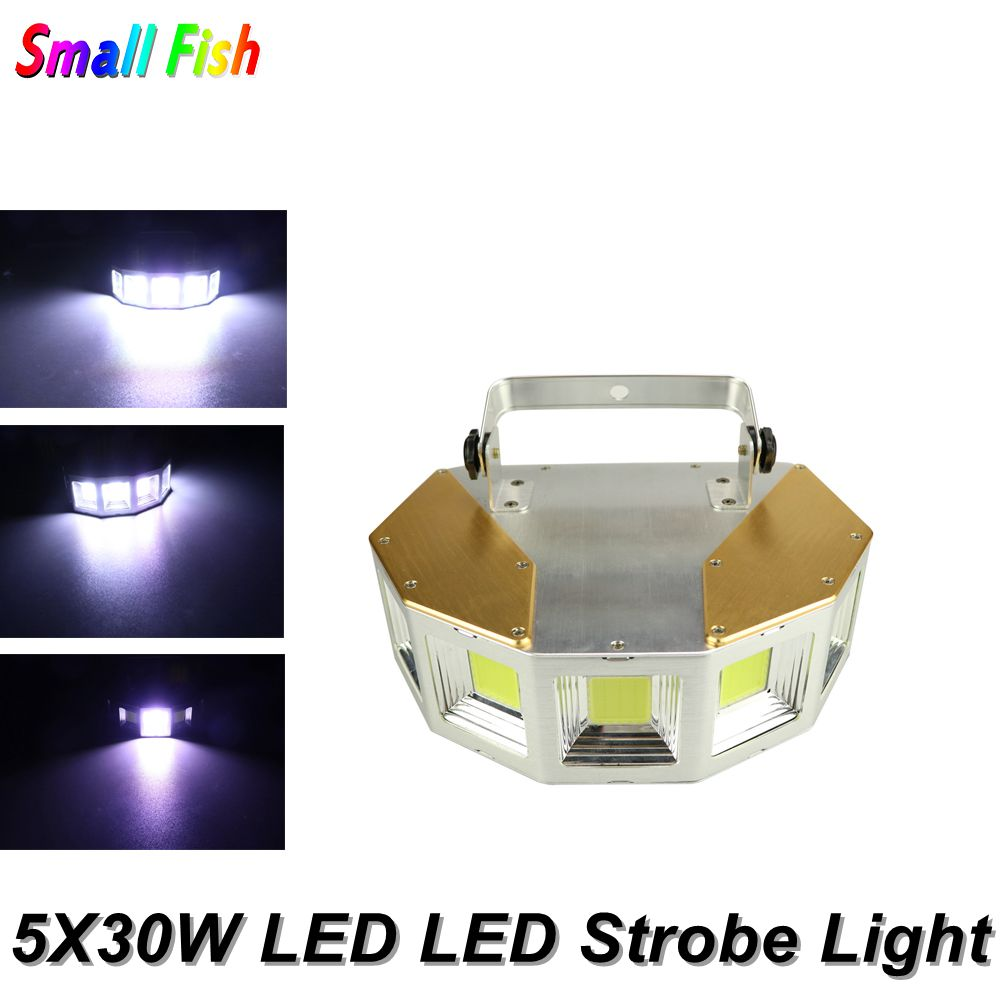 5X30W White Strobe Light LED Disco Strobe Lights 150W DJ Flashlight Stage Light Effect For Party Light Home Christmas Decoration