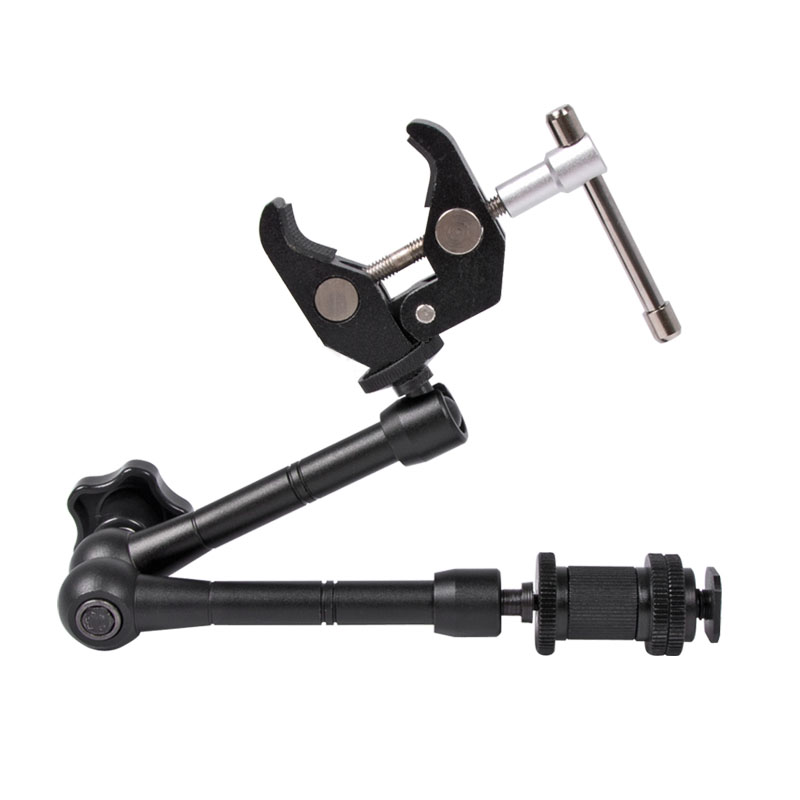 Super Clamp 7/11 inches Adjustable Magic Articulated Arm for Mounting HDMI Monitor LED Light LCD Video Camera Flash Camera DSLR - ANKUX Tech Co., Ltd