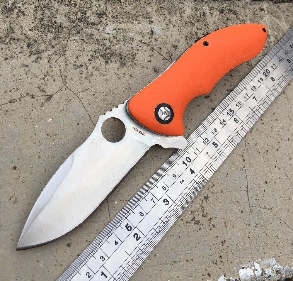 Custom font b Tactical b font Folding Blade font b Knife b font 9Cr18Mov G10 Handle