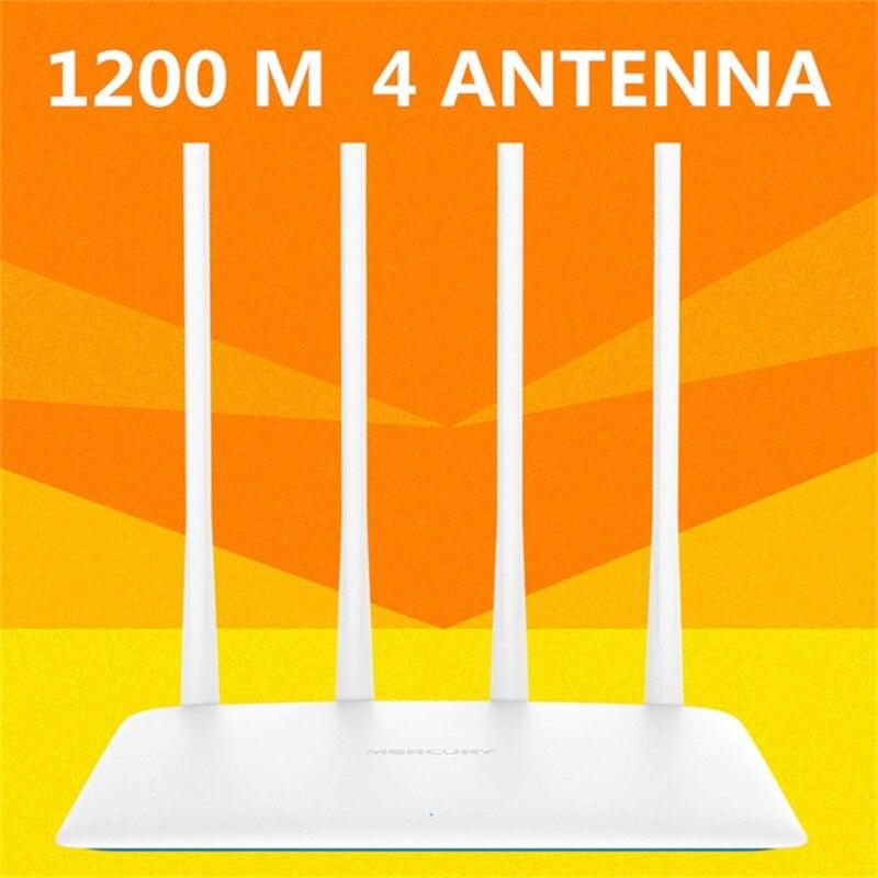 1200 Mbps 5g Router Wifi inalámbrico inteligente repetidor punto de acceso inteligente APP 4 antenas externas botón Botón WPS IP QoS velocidad 2 rápido