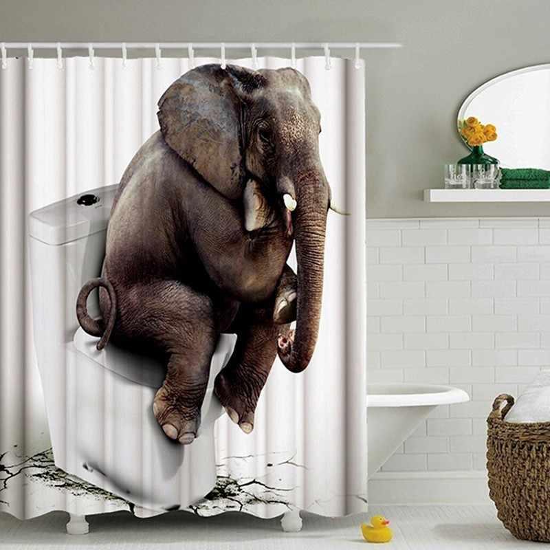 Tende Da Bagno Immagini.Elefante Tende Da Doccia Stampato Sul Water Tessuto Stanza Da Bagno Tenda Della Stanza Da Bagno Decorazione Impermeabile Poliestere Eco Friendly Aliexpress