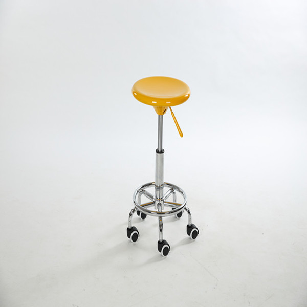 Yellow coffe house stool tea table chair round footrest wheel foot computer stool free shipping starlight 7r 230w metal halide lamp moving beam lamp with 230w power supply battery ballast