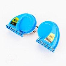 цена на 1 pair SUV Super Loud Snail Horn blue / SUV Air Siren Speeker 12V Car Alarm Sound horn Waterproof
