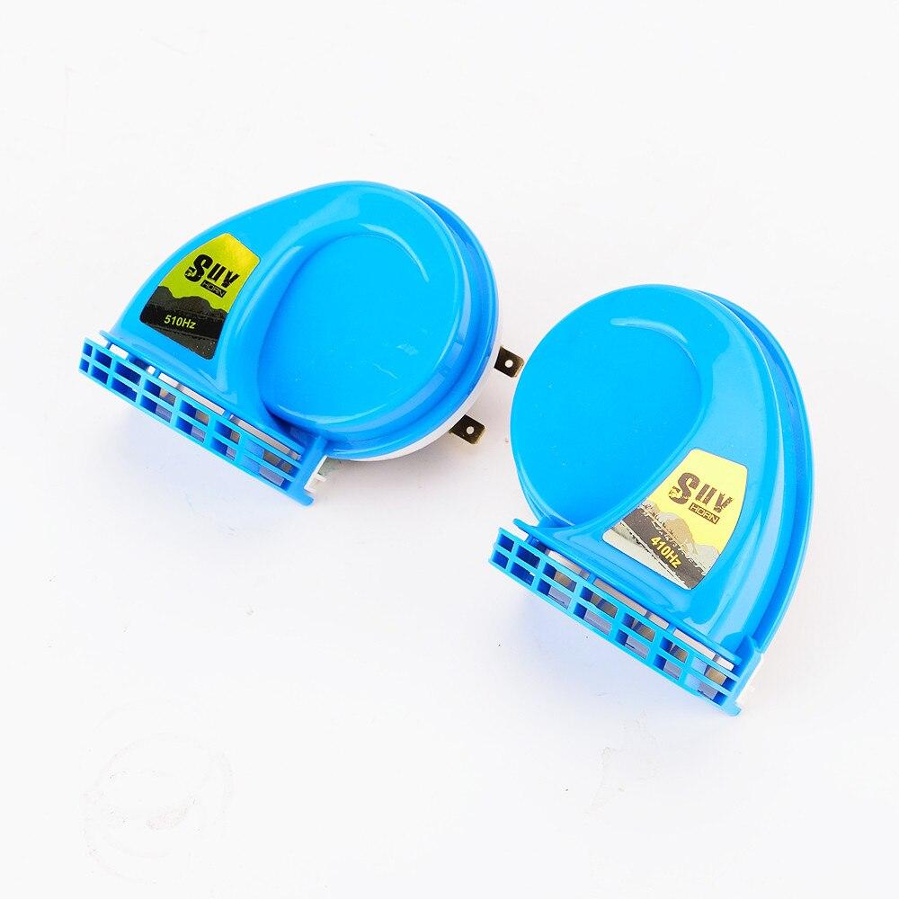 1 pair SUV Super Loud Snail Horn blue / SUV Air Siren Speeker 12V Car Alarm Sound horn Waterproof