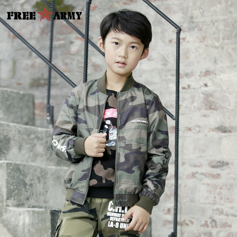 Teenager Boys Jacket 2018 Autumn Camo Jacket For Boys Children Jacket Kids Outerwear Coat For Boy Clothes 4 6 8 10 12 14 Year