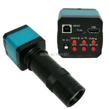 Cheaper HD USB Digital Industry Video Inspection Microscope Camera HDMI Set TF Card Video Recorder+130X C-MOUNT Zoom Lens