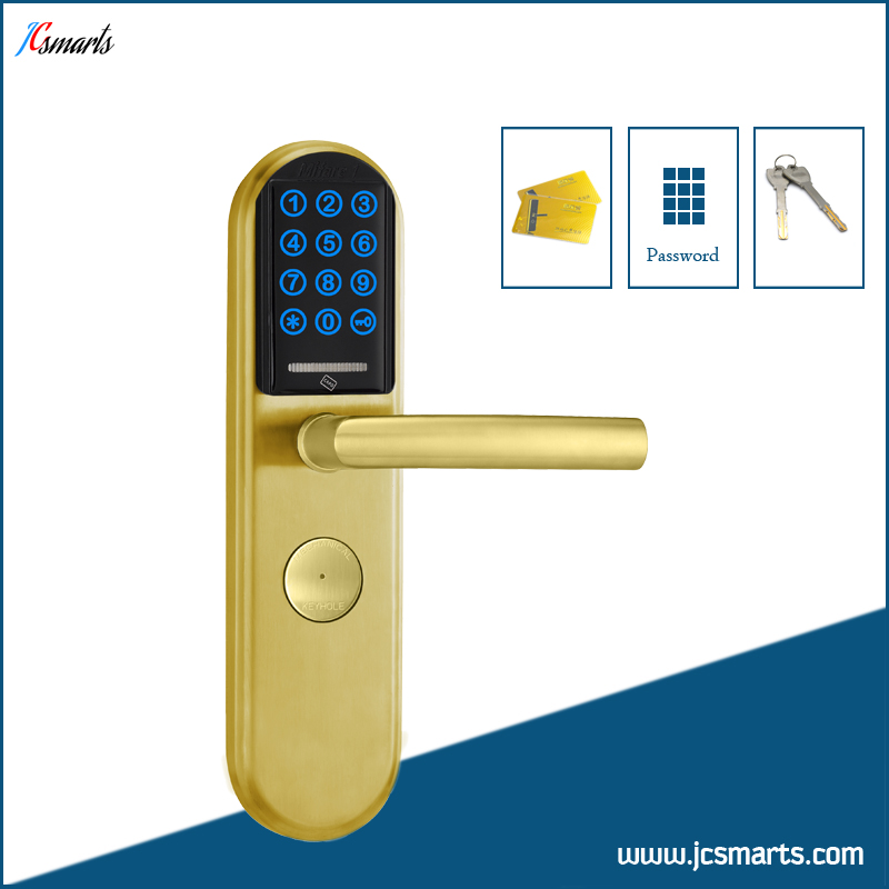 Office digital keypad door lock keyless M1 card electric lock stainless steel material 380b mechanical keyless digital keypad code locker home entrance safety lock stainless steel material 35 50mm door thickness