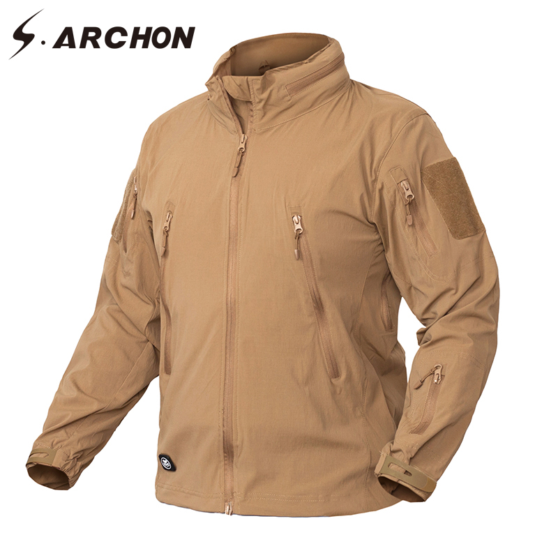 S.ARCHON Clothing New Autumn Jacket Coat Men Military Clothing Tactical US Army Breathable Nylon Light Outwear Windbreaker