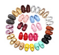 Comercio al por mayor 100 par/lote verano pu de la borla de mocasines de cuero niño niños zapatos primeros caminante mocasines de suela de goma dura