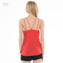 PK red tank top women summer 2017 candy color coat chiffon unlined camisole sexy tops upper garment sleeveless vest top