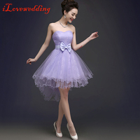 New Arrival Purple Short Homecoming Dresses Above Knee Lace and Tulle Simple Graduation Dresses Custom Made Plus Size