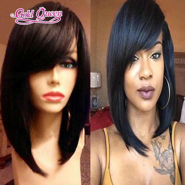 100% Brazilian human hair glueless full lace wigs&lace front bob wigs 6a virgin hair bob lace wig bleached knots free shipping