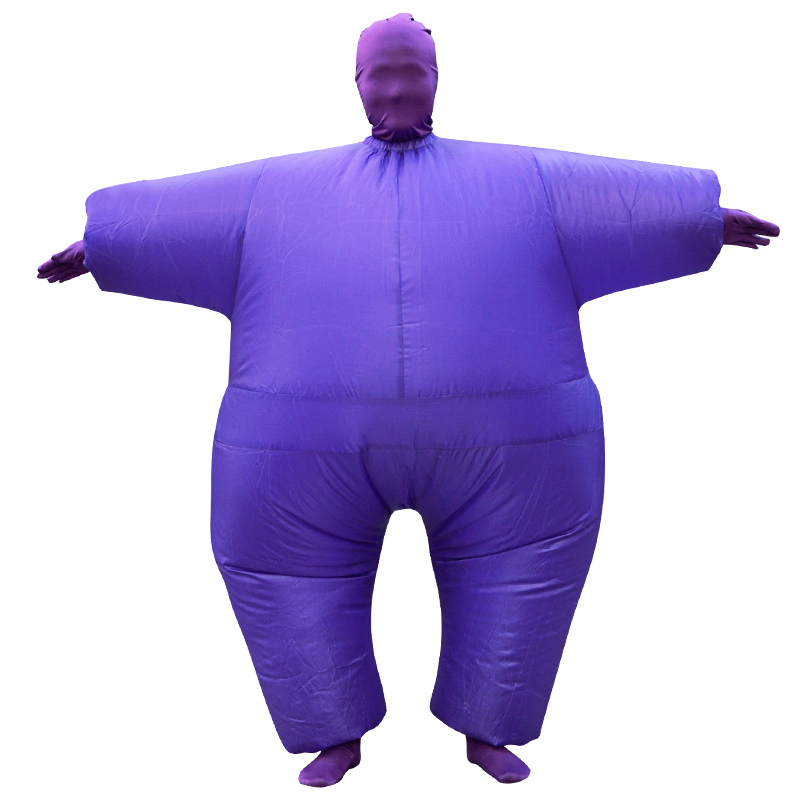 Adult Chub Suit Inflatable Costume Blow Up Green Red Purple Pink White Color Full Body Halloween Party Cosplay Costume Jumpsuit