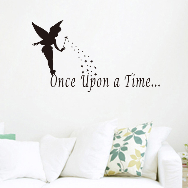 Once Upon A Time Angel Vinyl Wall Stickers Quotes For Living Room Decorative Art Diy