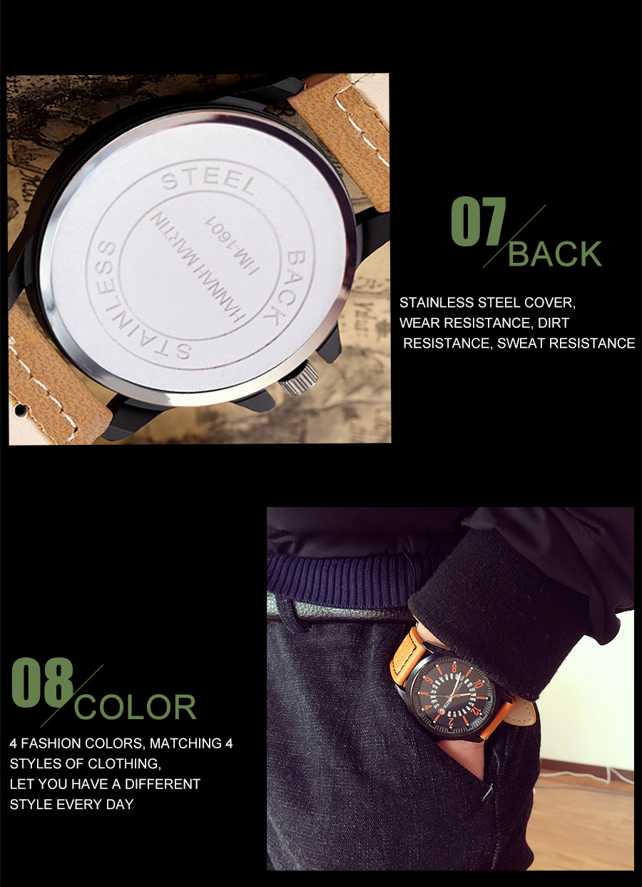 HTB1mEBeac_vK1RkSmRyq6xwupXa4 Men Wrist Watch Leather Casual Waterproof Calendar
