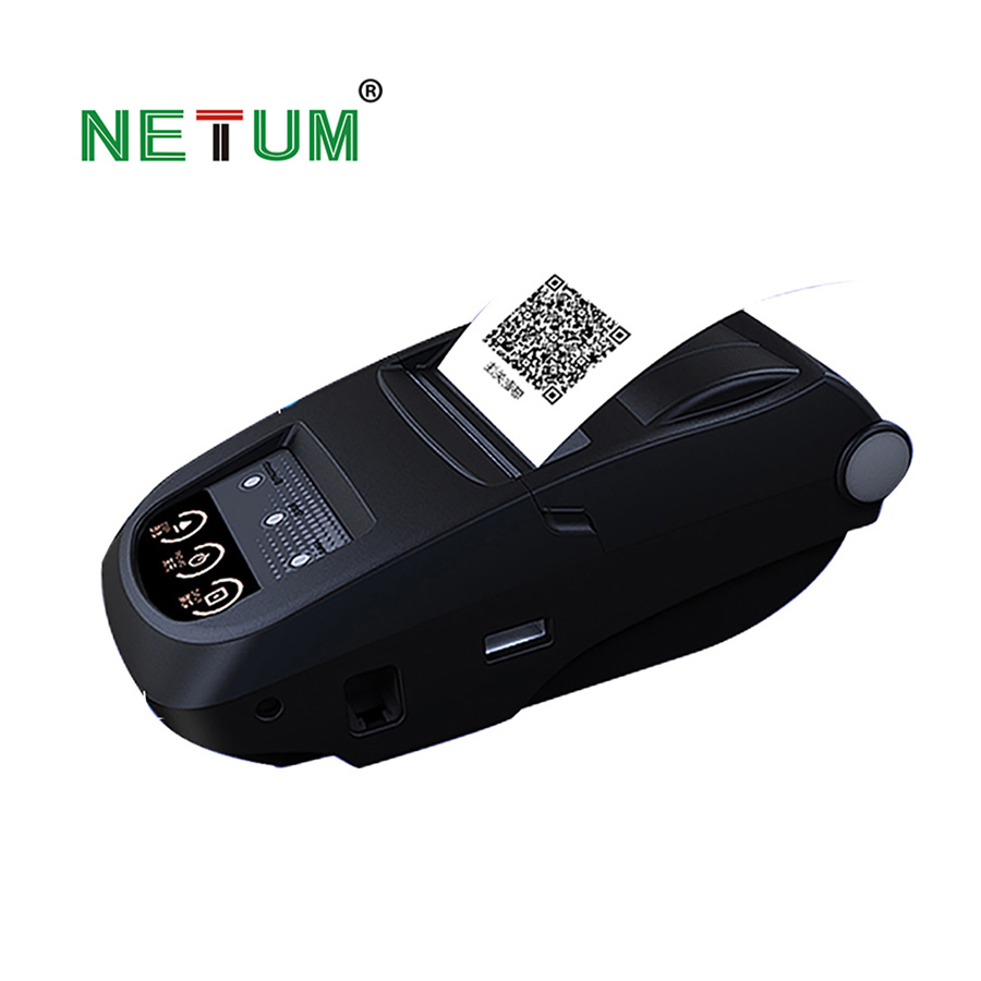 Portable 58mm Bluetooth Thermal Printer Mobie APP 2D QR Code Receipt Printer Support 9 Android Windows for Store NT-1800
