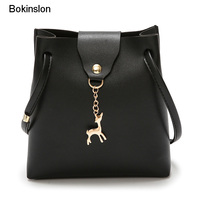 Bokinslon Woman Shoulder Bags Popular PU Leather Female Mini Bags  Individuality  Ladies Fashion Bags New