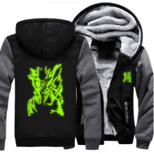 Naruto Green Luminous Jacket Sweatshirts Hoodie Coat