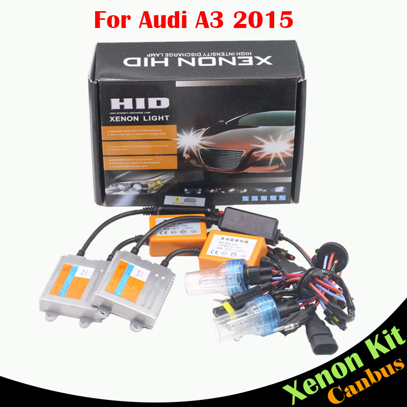 ФОТО Cawanerl H7 55W HID Xenon Kit AC 3000K-8000K Canbus Ballast Lamp Conversion Car Light Headlight Low Beam For Audi A3 2015