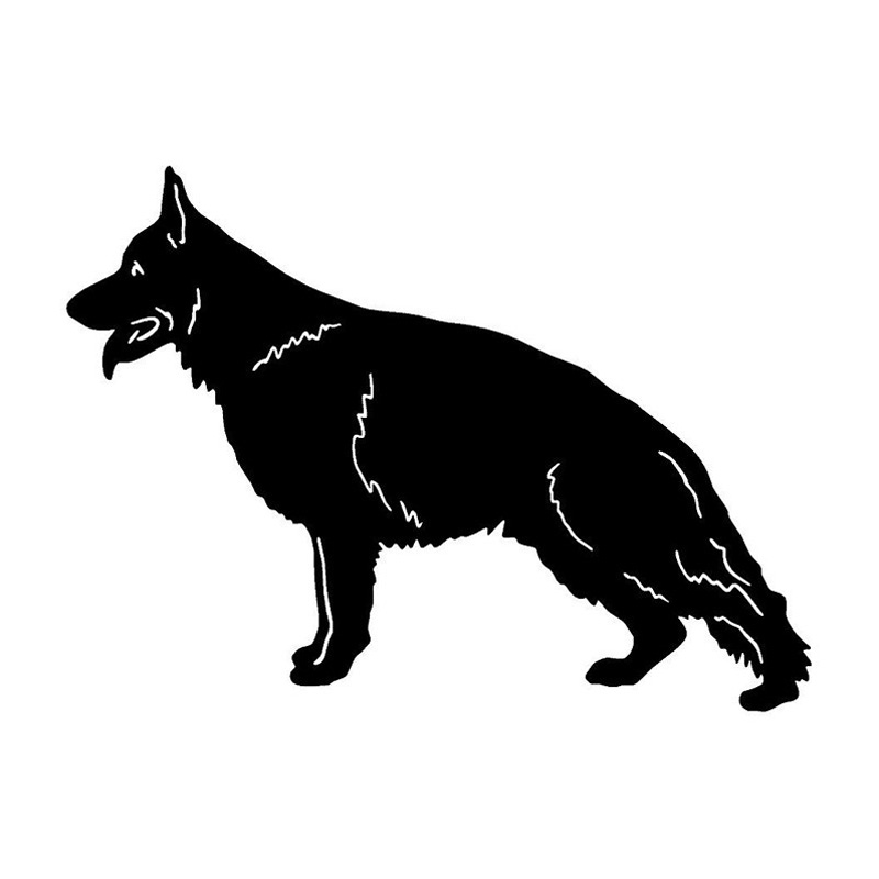 17.3*12.7CM German Shepherd Dog Car Stickers Personality Vinyl Decal Car Styling Truck Accessories Black/Silver S1-0700 цепочка german silver 46sm