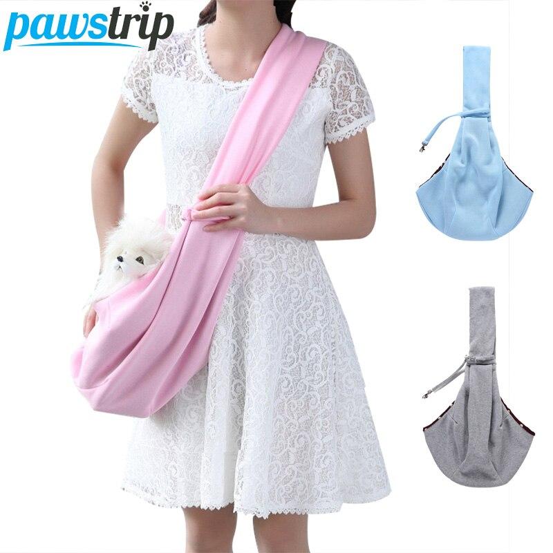 pawstrip Pet Carrier Cat Dog Sling Bag Hands Free Reversible Dog Shoulder Bag Carrier Outdoor Pet Travel Bag For Small Dog Cats