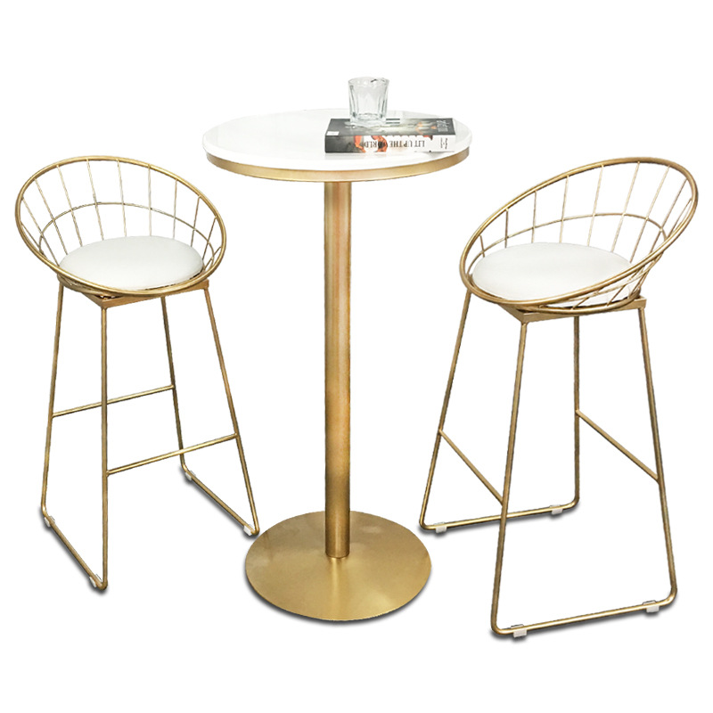 Nordic Creative Bar Chair Table Simple Iron Art Multi-function Household High Stool with Cushion Coffee Shop Bar Stool and Table цены онлайн