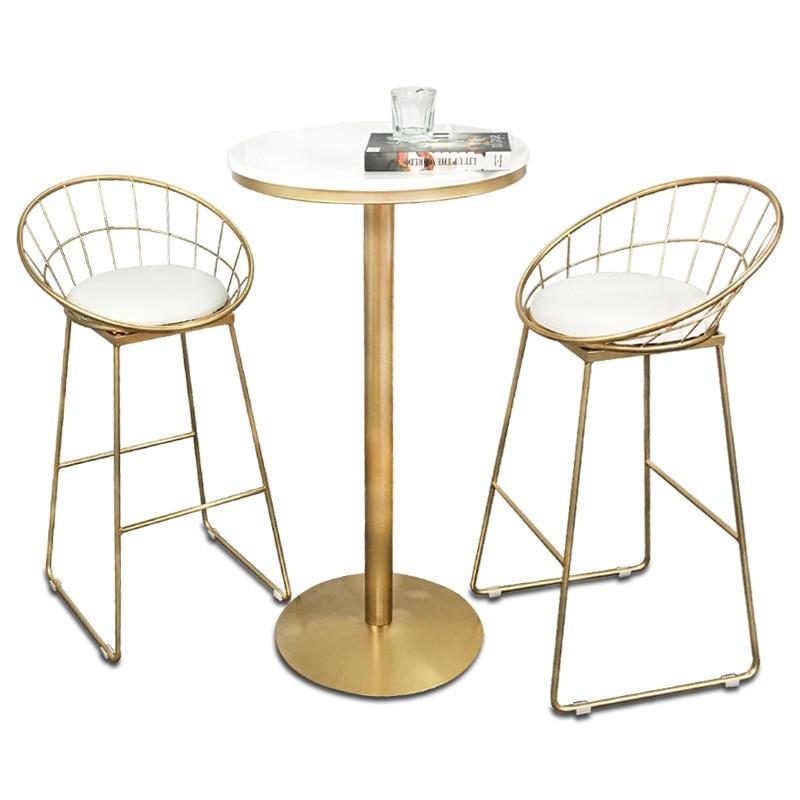 Nordic Style Creative Bar Stools Multi-function Coffee Shop/Bar Stool And Table Tabouret De Bar Taburete