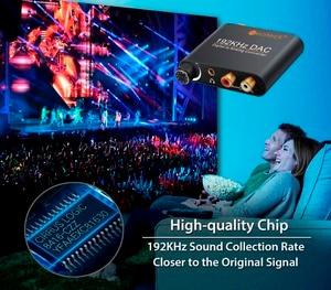 Image 4 - Neoteck cyfrowy na analogowy konwerter Audio DAC koncentryczny optyczne Toslink SPDIF do analogowe RCA 3.5mm Adapter gniazda Jack z kontrolą głośności