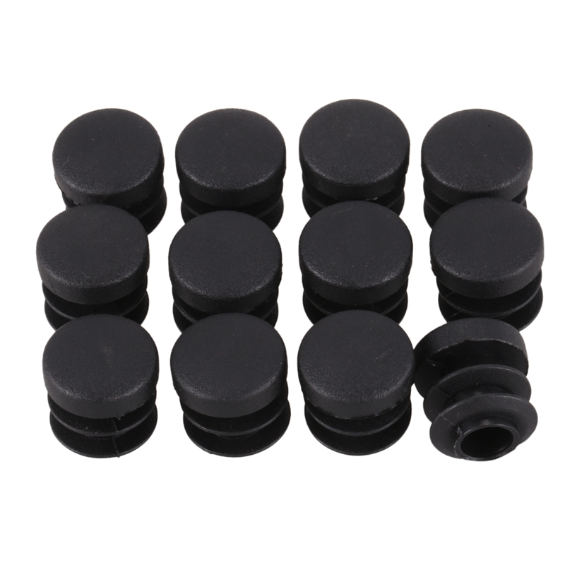 Chair Table Legs Plug 14mm Diameter Round Plastic Cover Thread Inserted Tube 12 PCS