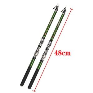 Image 2 - 2019 series 1.8 3m green carbon fiber spinning rock fishing rod closed 46cm short hard travel stick telescopic pole