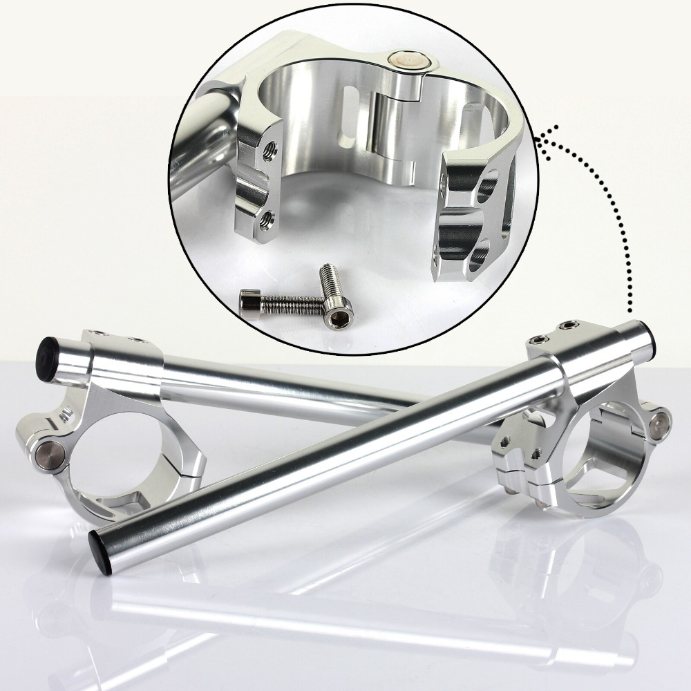 BIKINGBOY 22mm 7 8 Handlebar Clip On Fork Split Handle Bar 41 43 45 46 47