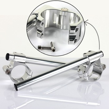 BIKINGBOY 22mm 7/8″ Handlebar Clip On Fork Split Handle Bar 41 43 45 46 47 48 50 51 52 53 54 55 mm Motorcycle Cafe Racer Pair