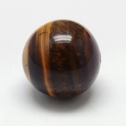 Natural Tiger Eye Buddhist Beads, 3 Hole Guru Beads, Grade AB, Buddha Jewelry Findings, DarkGoldenrod, Tiger Eye, Round: 8mm,