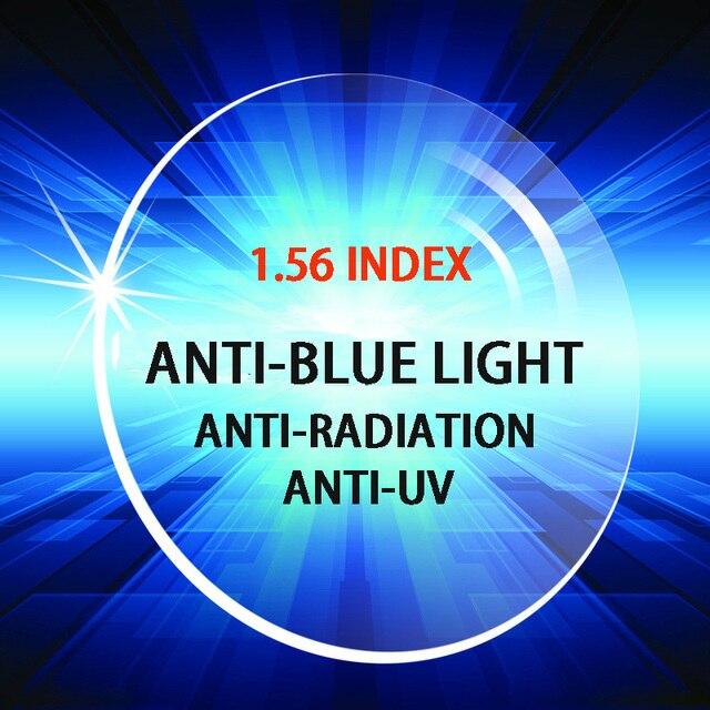 1.56 индекс ПК унти-синий свет лучей унти-УФ лучей оптический рецепту линзы высокого качества для работы за компьютером просмотр ТЕЛЕВИЗОРА