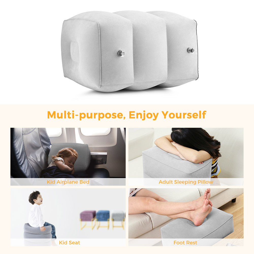 9d91b252f0a5 US $18.45 |Travel Foot Rest Pillow Inflatable Adjustable Height Pillow for  Foot Rest Airplanes Cars Office Kids Sleep Flight Pillow-in Travel Pillows  ...