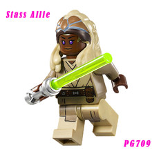 Tholothian Jedi Master Tan Headdress Stass Allie Star Wars 75016 Homing Spider Droid Building Blocks Toys For Kids Pg709(China)