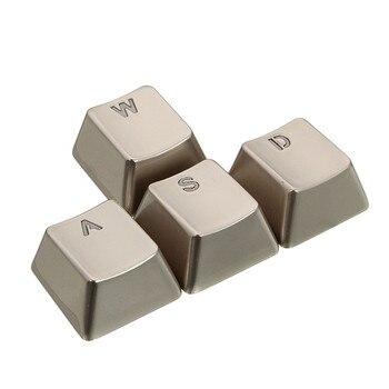 Шт. 4 шт. цинковый сплав ключ крышка световая передача для механической клавиатуры MX Axis серебряный металлический ключ крышка s Прозрачный ...
