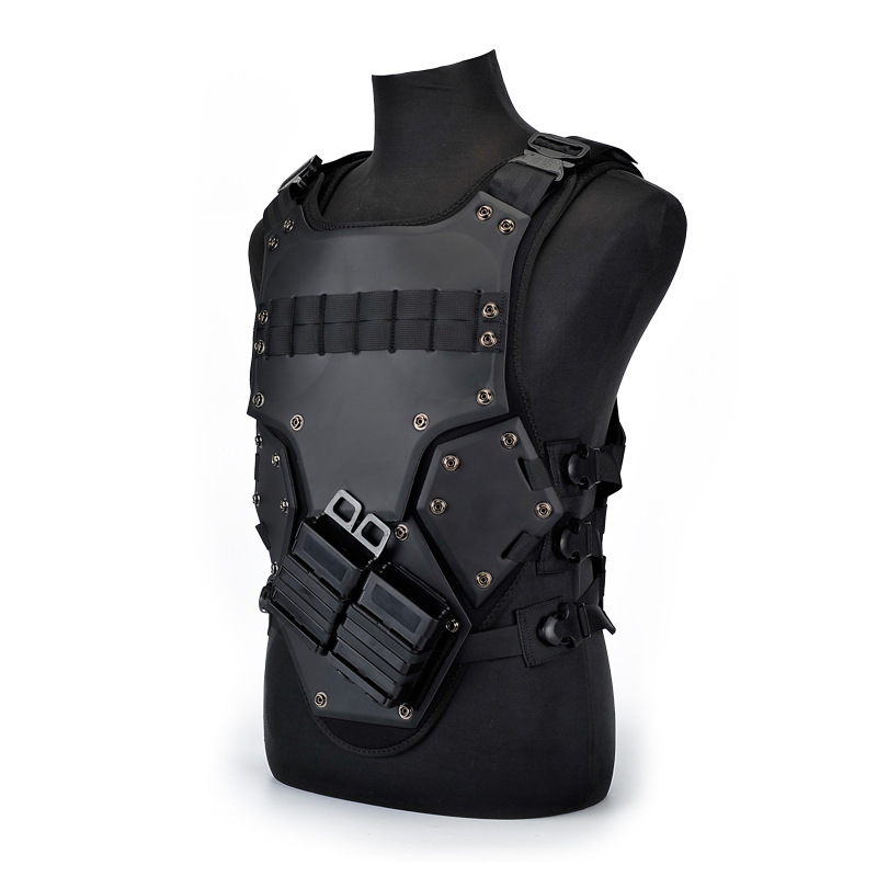 EVA TF3 Tactical Vest Hunting Military Vest Outdoor Body Armor Swat Combat Paintball Black Waistcoat With M4 Mag Pouches