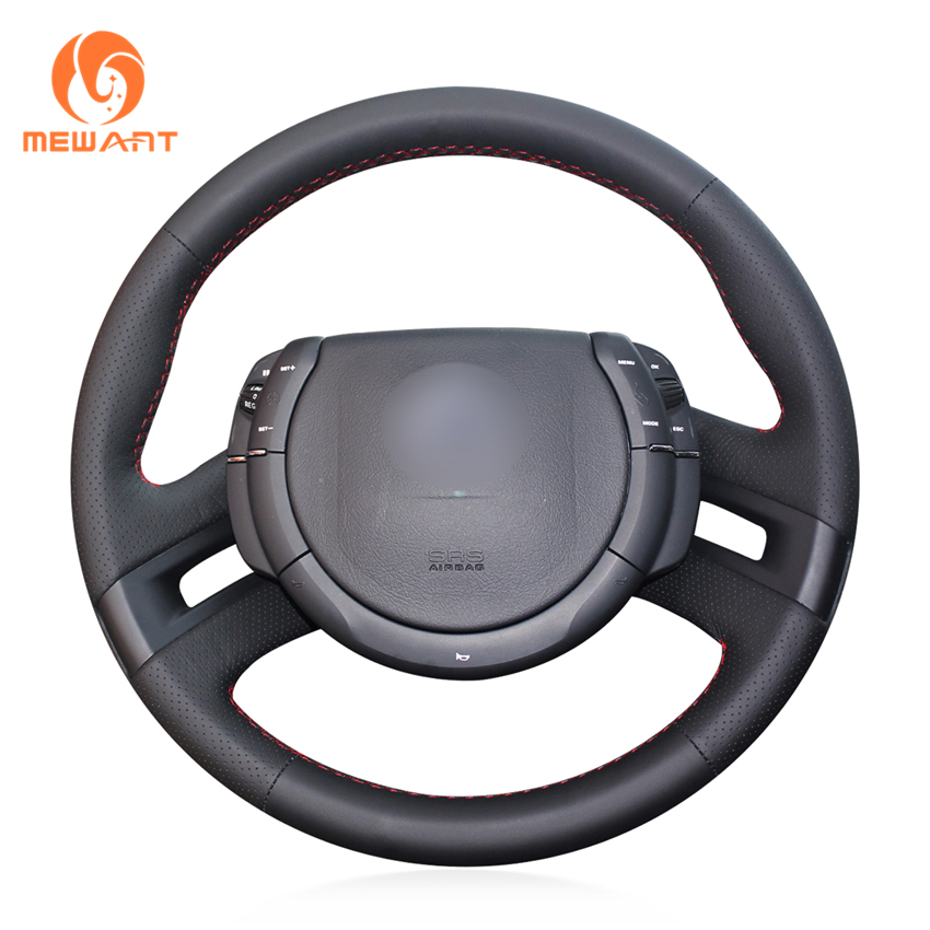 MEWANT Black Artificial Leather Car Steering Wheel Cover For Citroen C4 Picasso 2007-2013