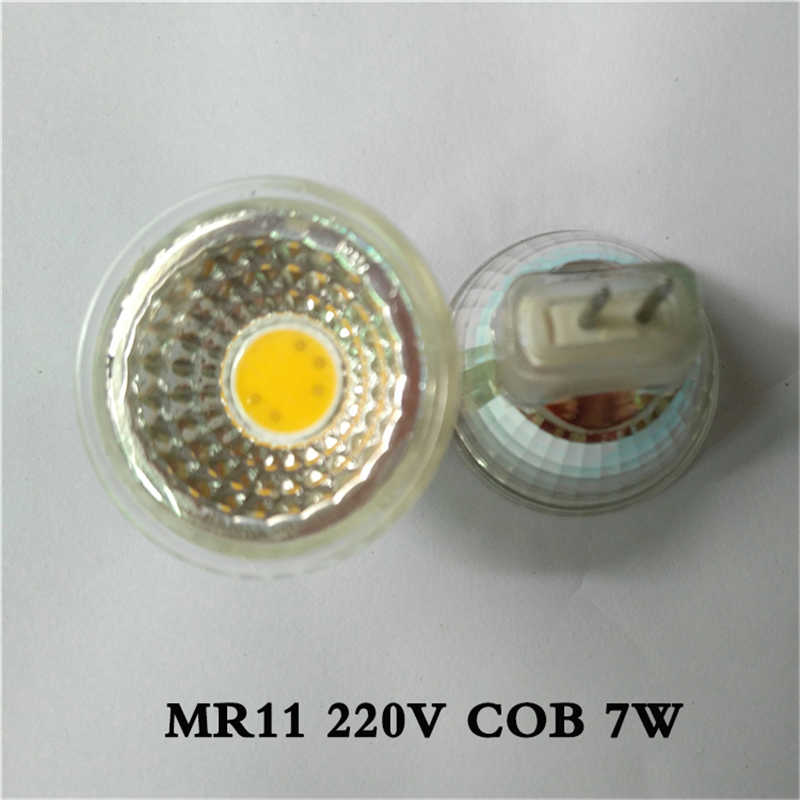 1 pcs Mr11 DIPIMPIN Lampu 35mm Diameter 3 W 12 V Hangat/Cool White Terang Mini COB LED 7 W Mr11 Spotlight Bulb 5 W 220 V MR11 cahaya lampu