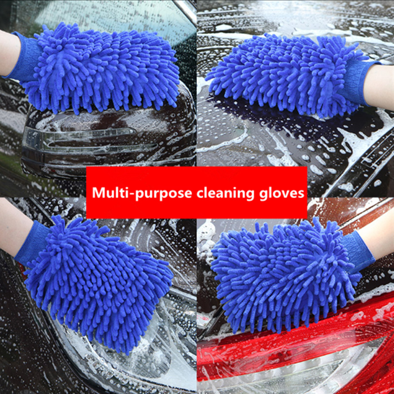 Car Ultrafine Fiber Cleaning Glove Microfiber Car Cleaning Brushes For Volkswagen VW Golf 4 6 7 GTI Tiguan Passat Jetta Polo