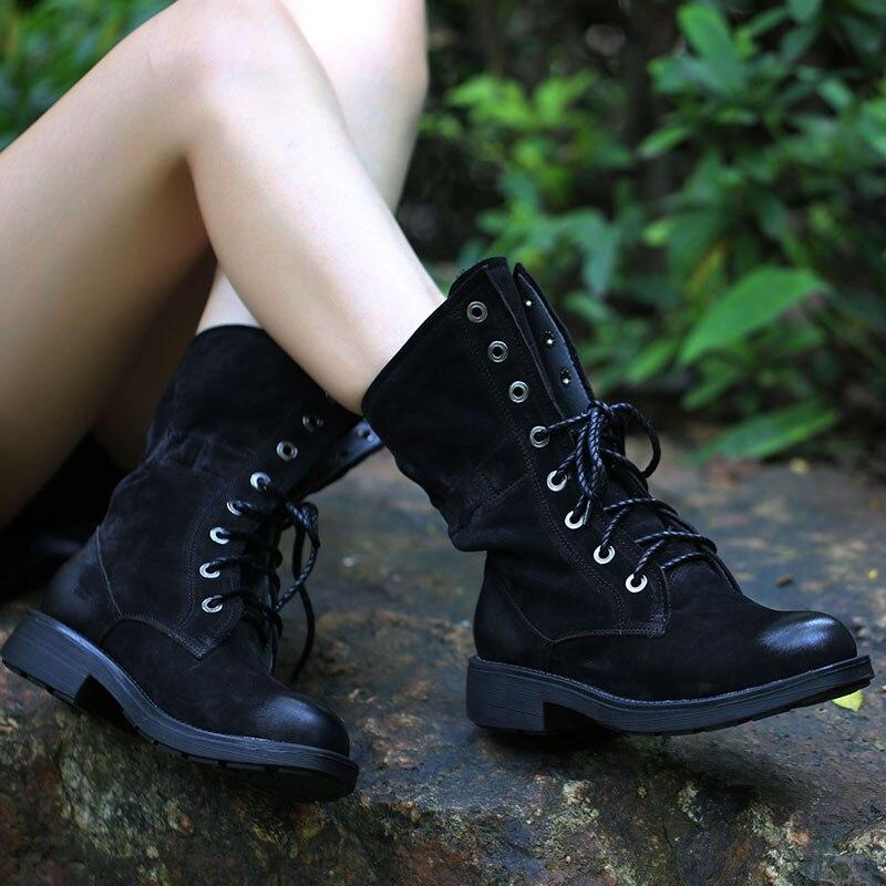 2019 женские Ботинки martin из нубука; ботинки на шнуровке на плоской подошве; женская обувь с круглым носком; сезон осень зима; 136 1