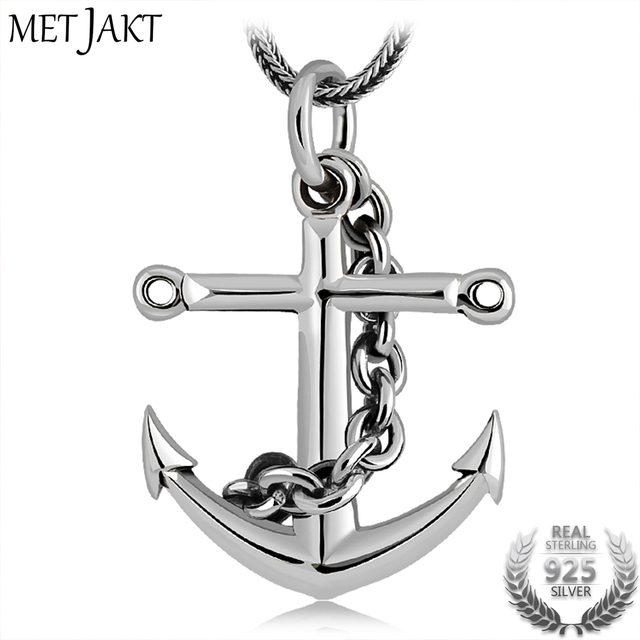 Metjakt classic pirate anchor pendant solid 925 sterling silver metjakt classic pirate anchor pendant solid 925 sterling silver pendants necklace pendant for unisex vintage thai aloadofball Images