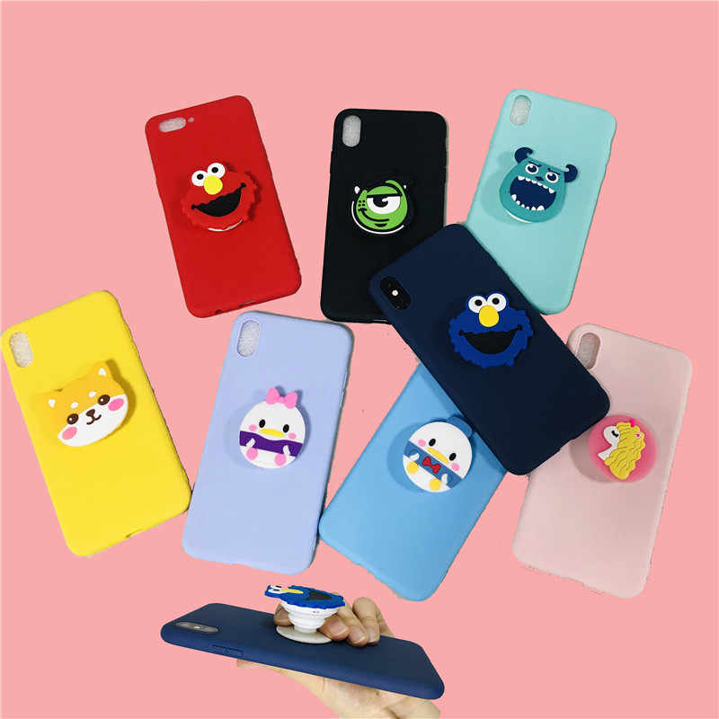 Cartoon Monster Minnie Cases For Samsung Galaxy A6 Plus A7 A750 A8 A9 Star Pro lite 2018 Soft Silicone TPU Cover 3D Phone Holder